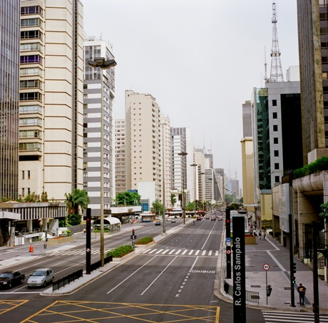 Overview of Paulista Ave after streetscape reconstruction