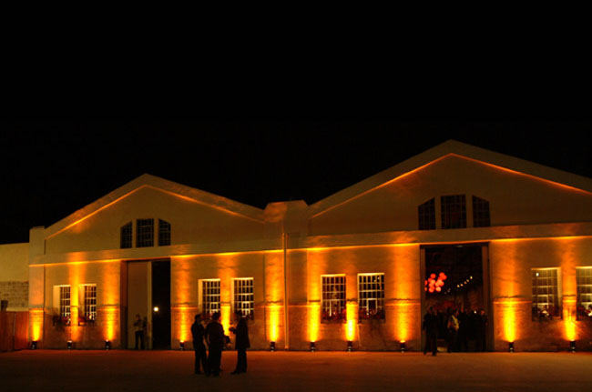 Nalaga'at lighted facade at night