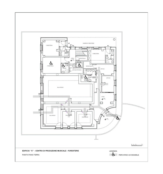 First floor plan of center for music production
