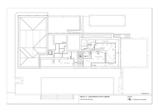 Third floor plan, main building