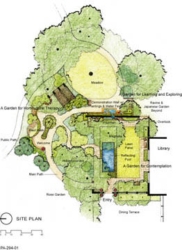 site plan of the garden