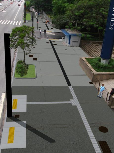 Modeled image od streetscape design