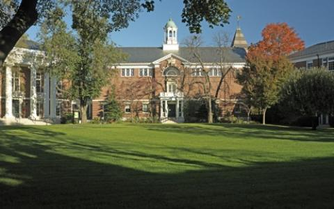 Radcliffe Gymnasium from Radcliffe Commons