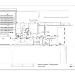 Second floor plan, main building