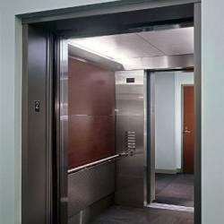 Elevator with double doors