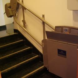 Stair lift on a short flight of five stairs
