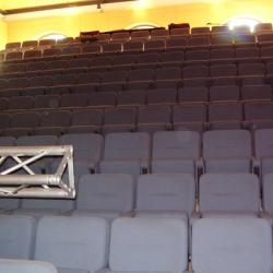 Concert hall seating viewed from stage