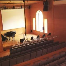 Concert hall from top of seating section