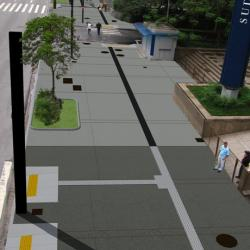 Modeled image od streetscape design