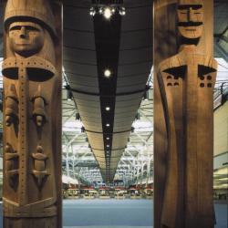 Tall wooden figures
